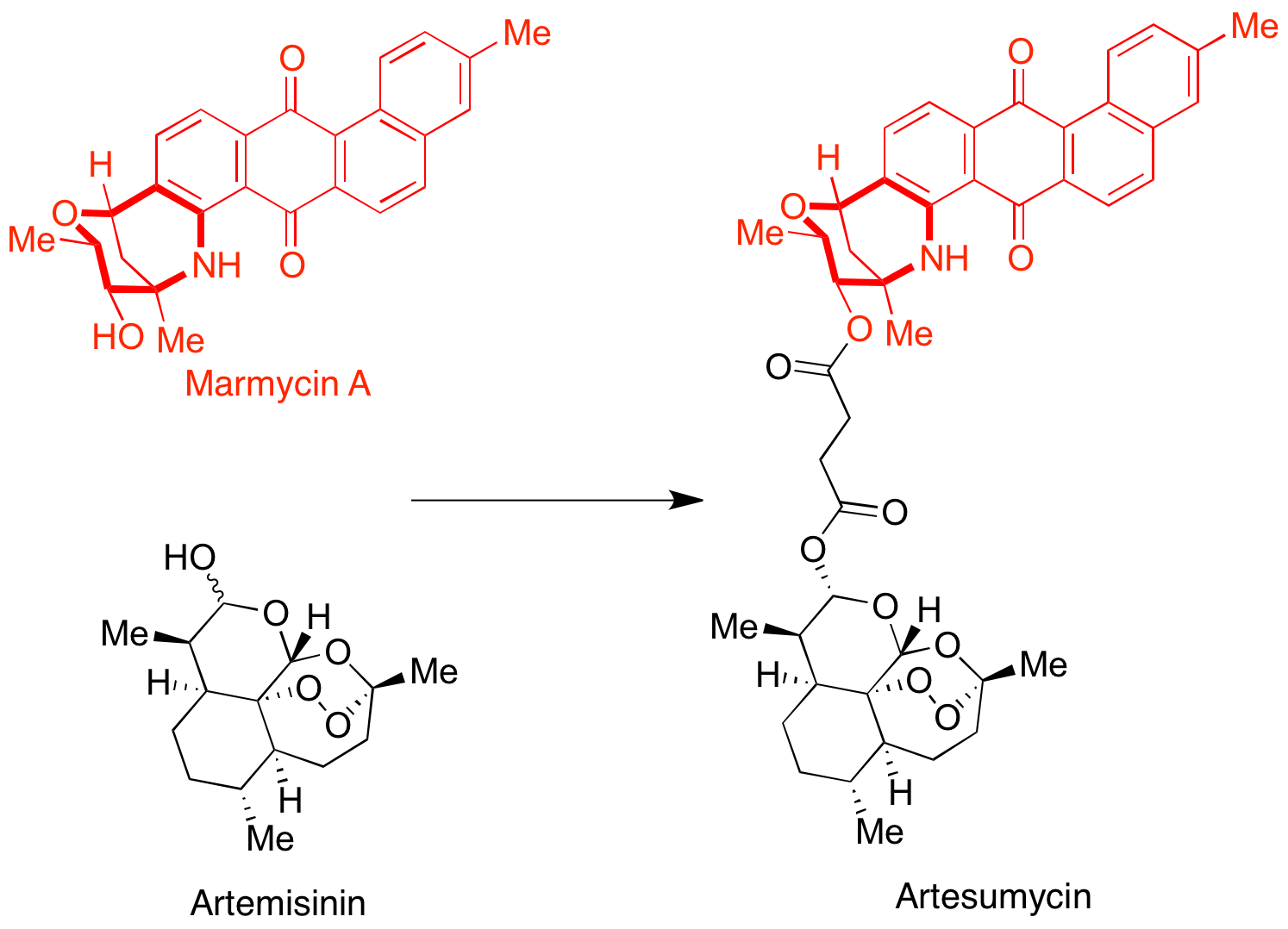 Artesumycin, a hybrid between Artemisinin and Marmycin that targets the lysosomal compartement.
